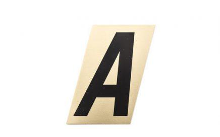 Mtl-Stik Alumiinikirjaimet ja -numerot